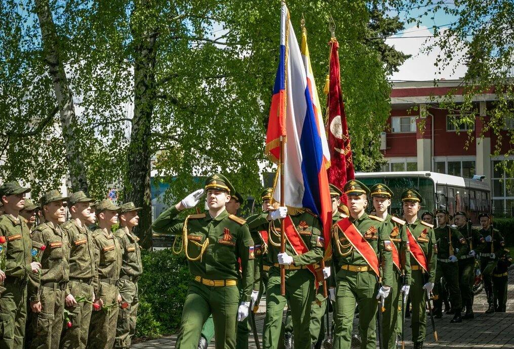 Сотрудники Военного учебного центра почтили память воинов-победителей