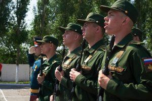 Студенты военного учебного центра при ВГУ присягают на верность Отчизне
